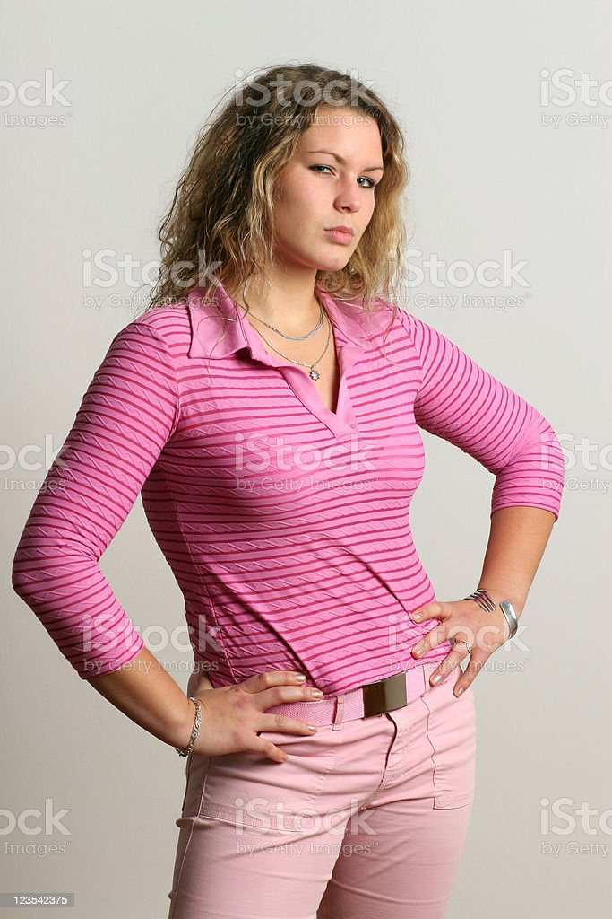 Angry young woman royalty-free stock photo