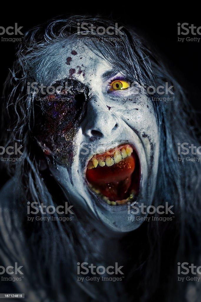 Angry Zombie stock photo