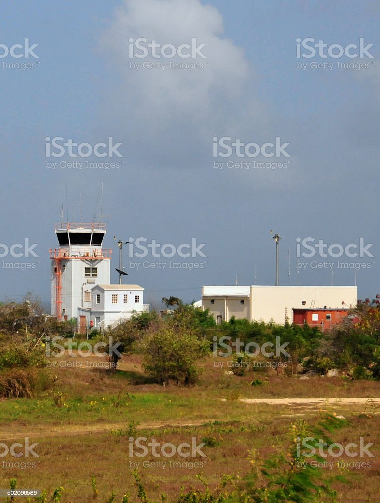 Anguilla airport, The Valley stock photo