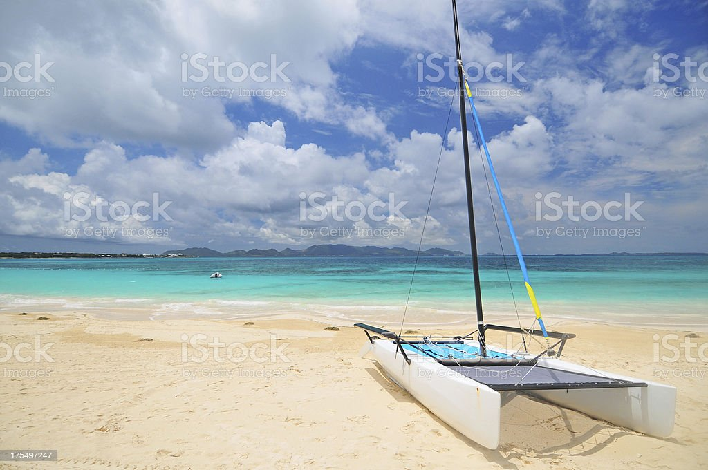 Anguilla Beach stock photo