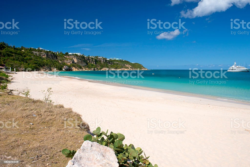 Anguilla, English Caribbean island stock photo