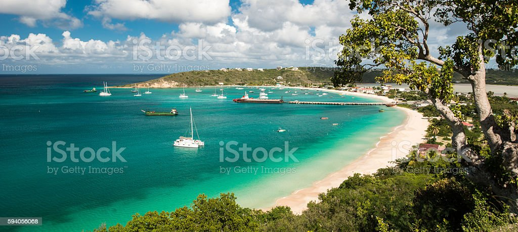 Anguilla island, Caribbean sea stock photo