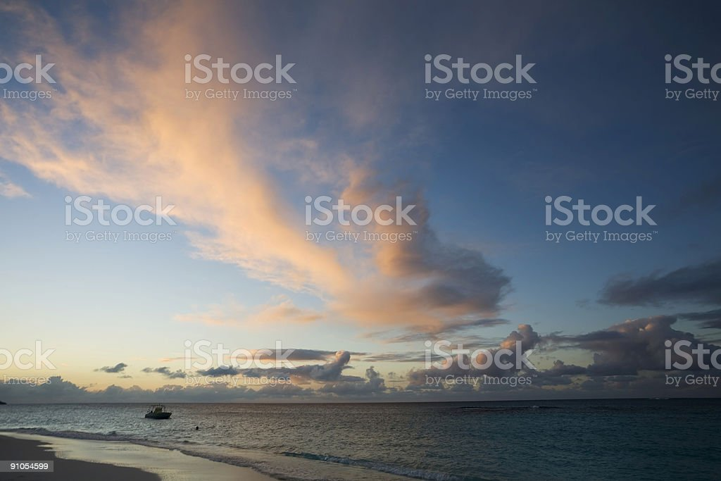 Anguilla Sunset stock photo