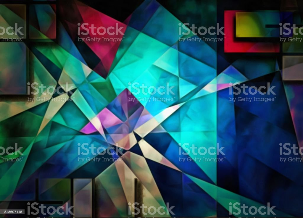 Angular Abstract stock photo