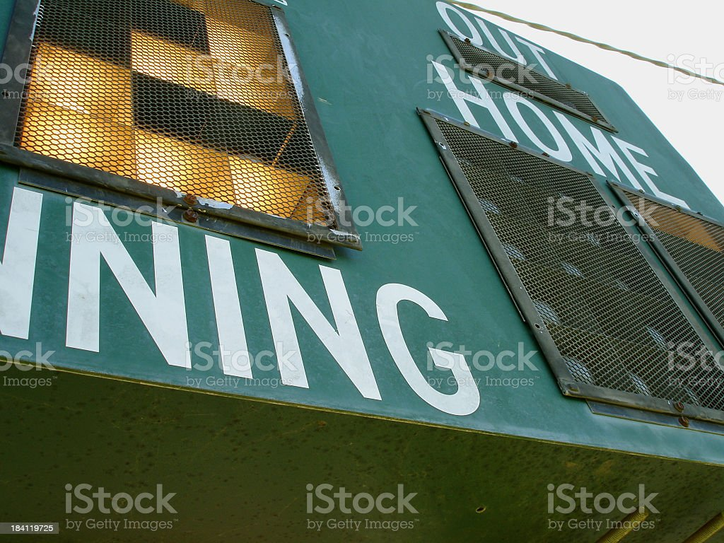 Angular View of Scoreboard royalty-free stock photo