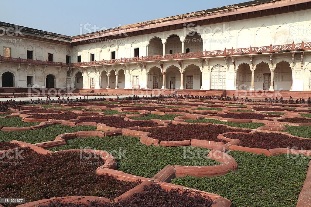 Anguri Bagh 'Grape Garden', Agra Fort, Uttar Pradesh, India stock photo