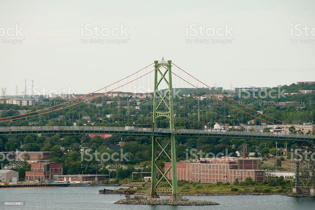 Angus L. Macdonald Bridge - Halifax - Nova Scotia stock photo