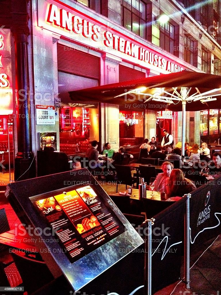 Angus Steak House, Leicester Square, London, UK stock photo