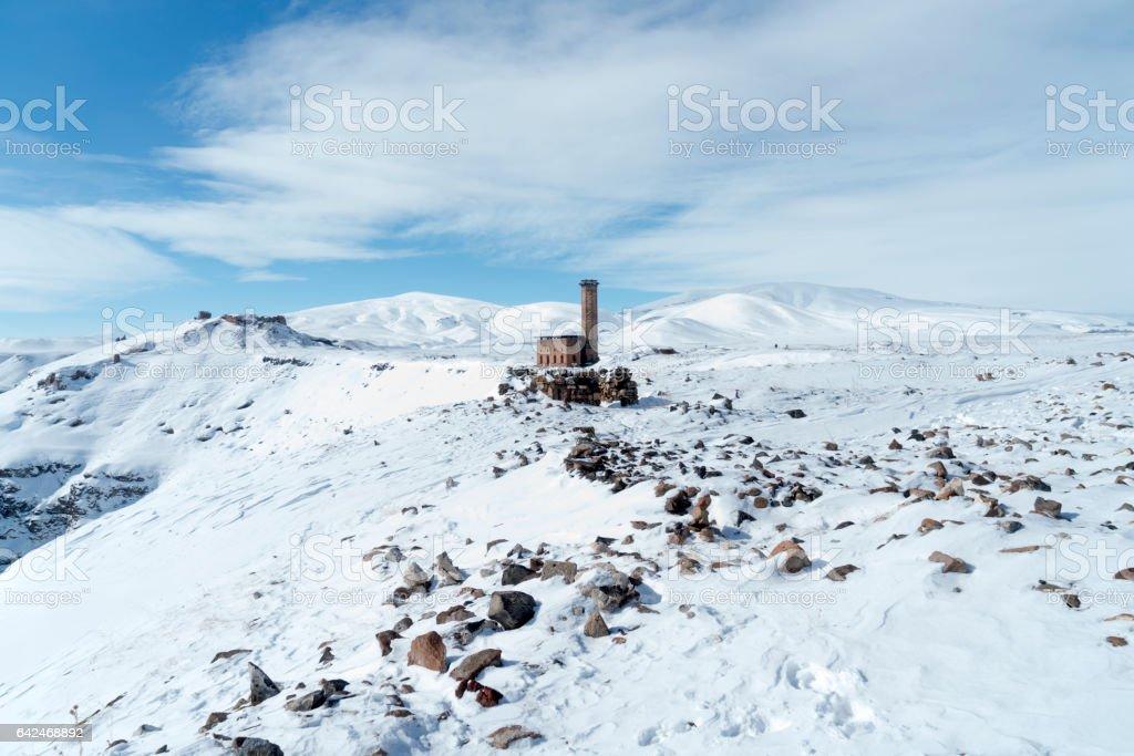 Ani ruins at Kars Turkey stock photo