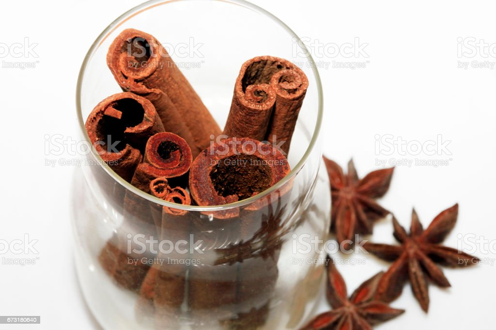 anice and cinnamon stock photo