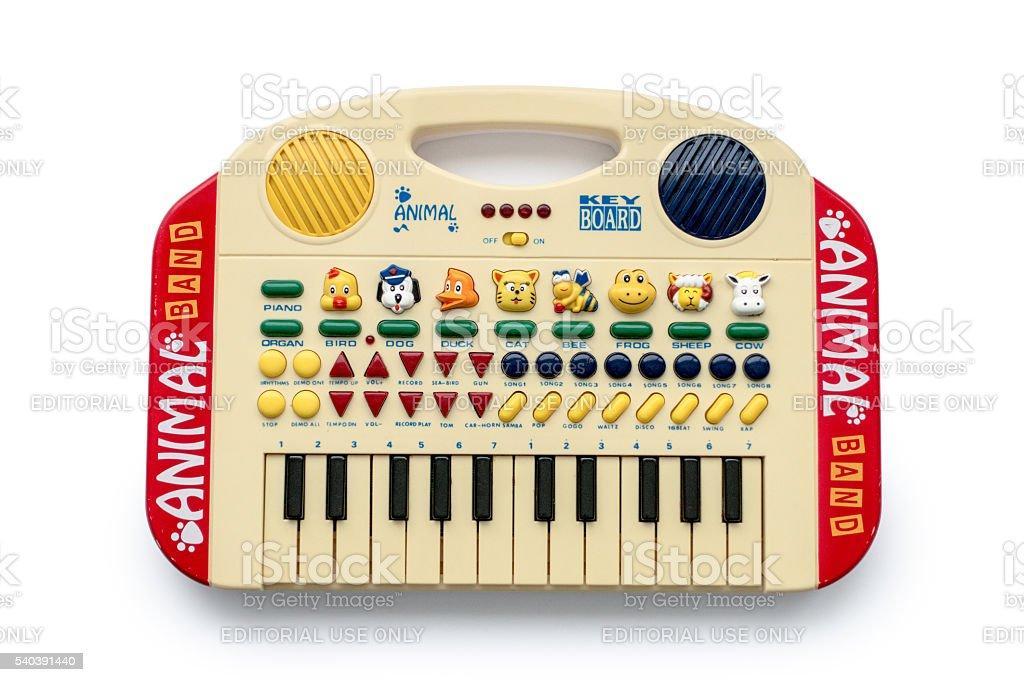 Animal band Keyboard on white stock photo
