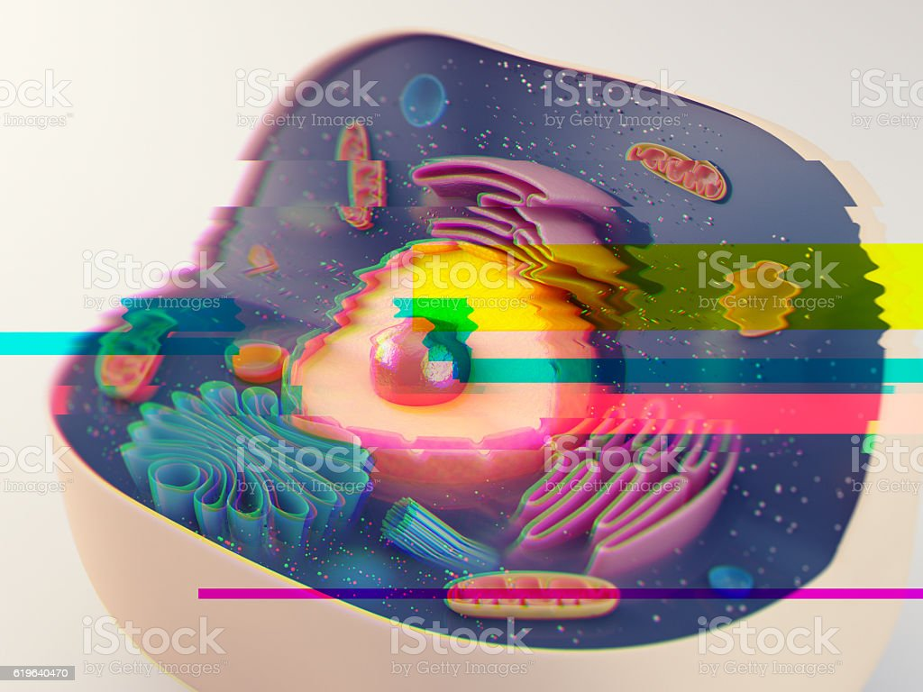 Animal cell glitch stock photo
