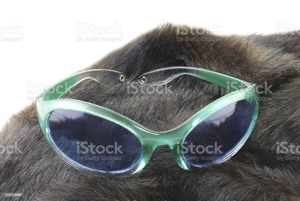 Animal Fur and Sunglasses stock photo