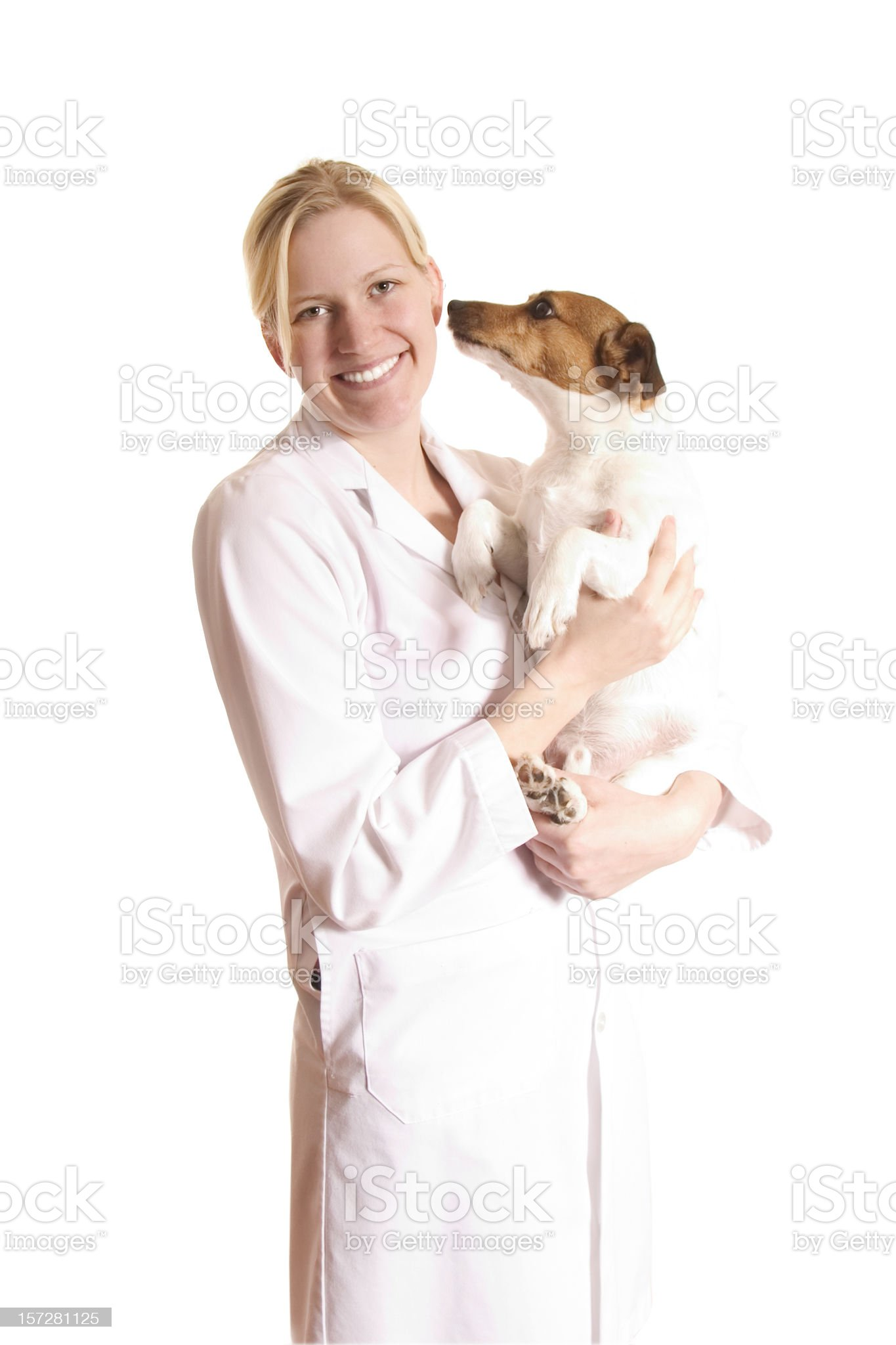 Animal health professional royalty-free stock photo