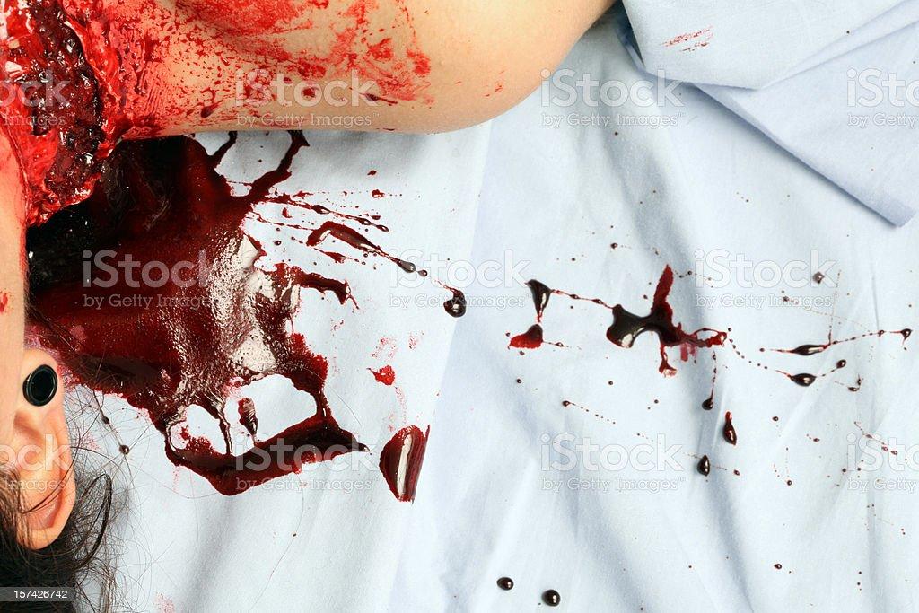 Animal Mauling Blood Splatter stock photo