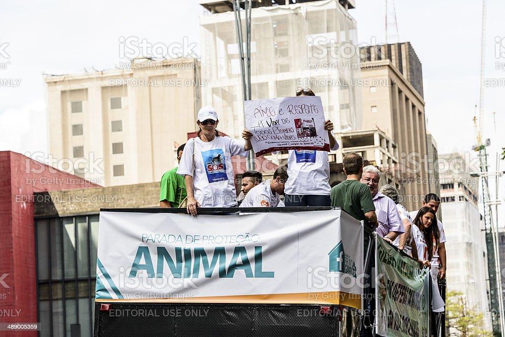 Animal Rights Rally, Sao Paulo, Brazil stock photo