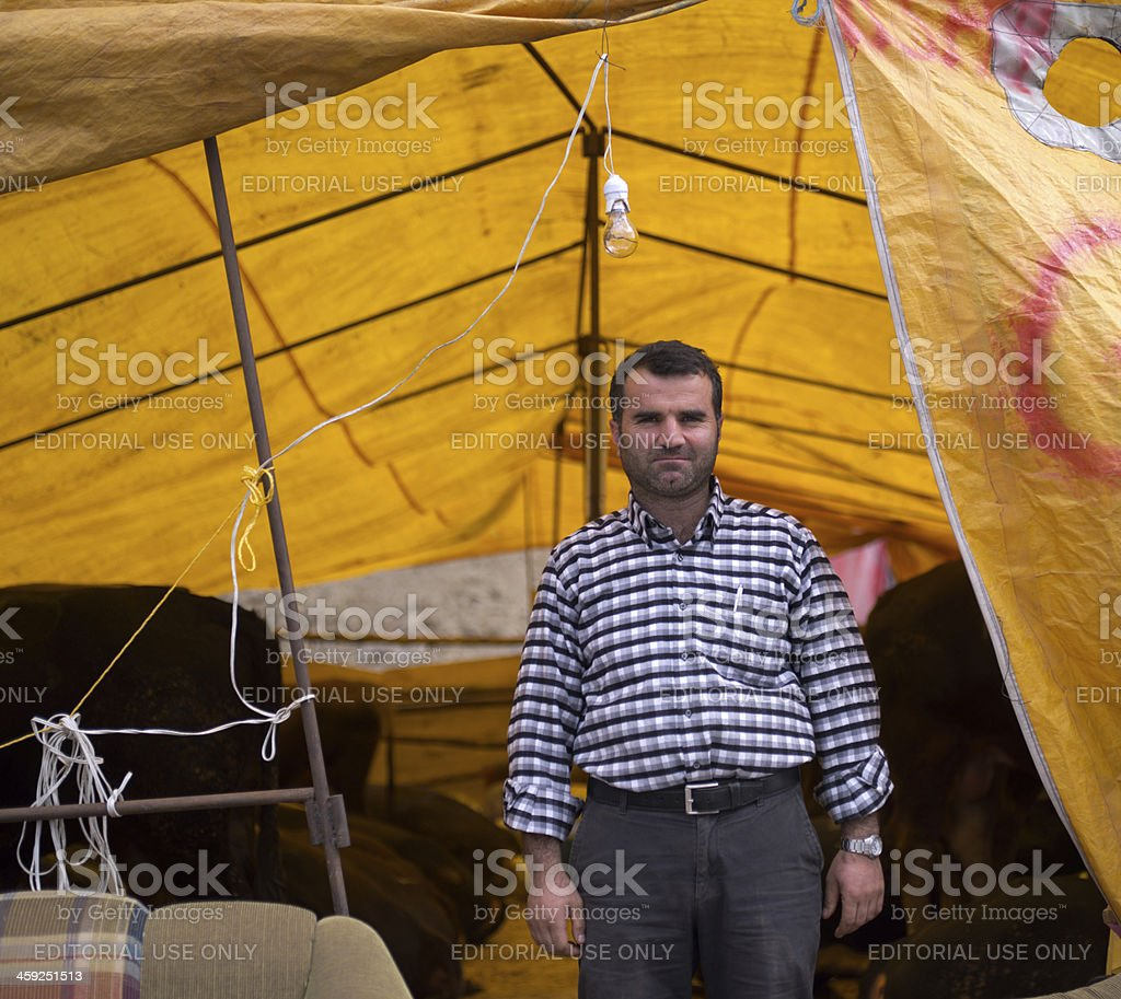 Animal sellers stock photo