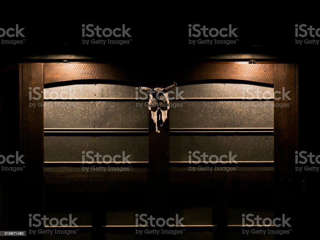 Animal Skull Door Hanging stock photo