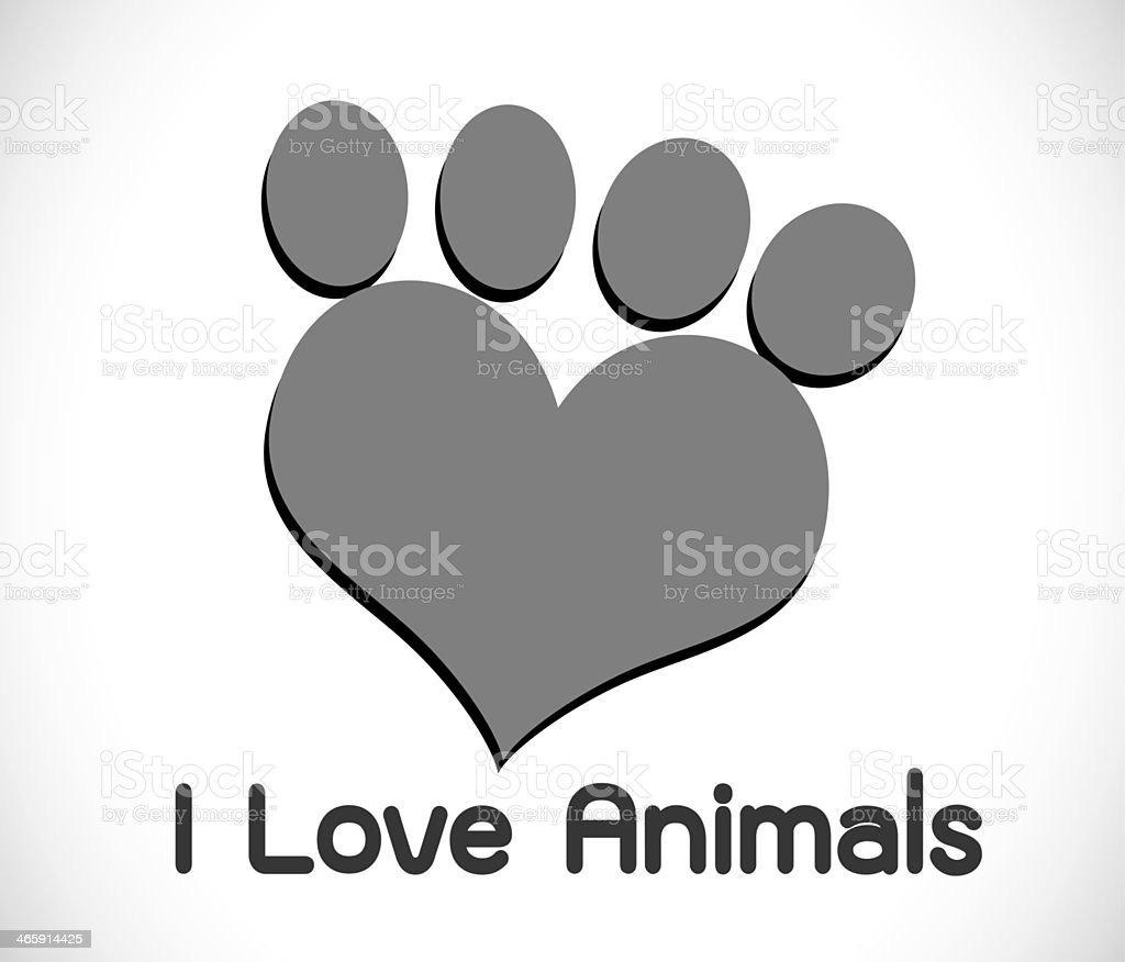 Animal symbol design royalty-free stock photo