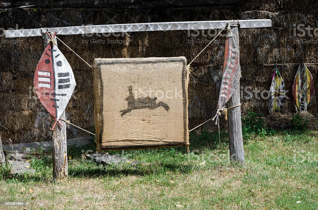 Animal target for hunting and archery stock photo