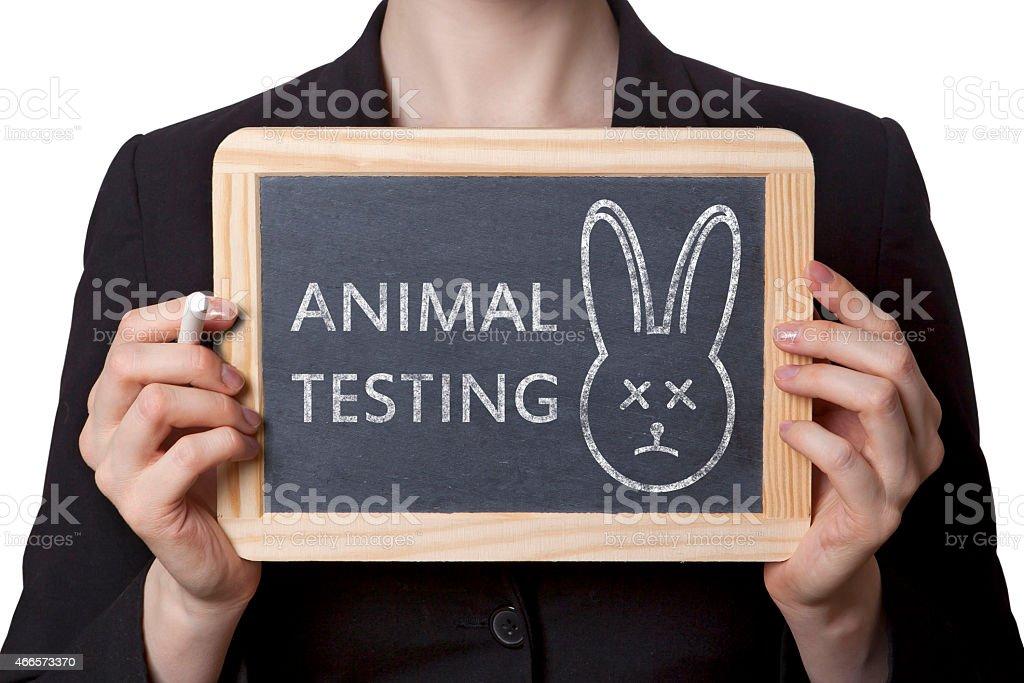 Animal testing stock photo