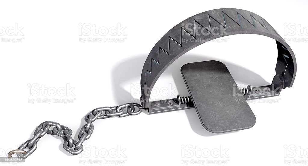 Animal Trap Closed royalty-free stock photo