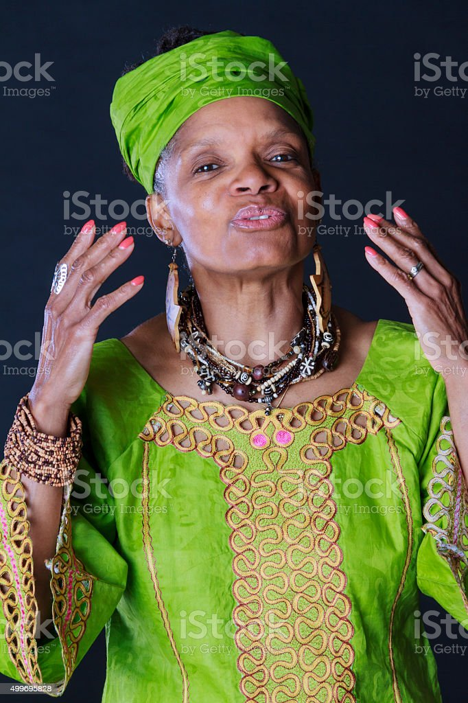 Animated African American Woman Story Teller stock photo