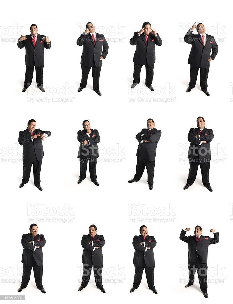 animated businessman set C royalty-free stock photo