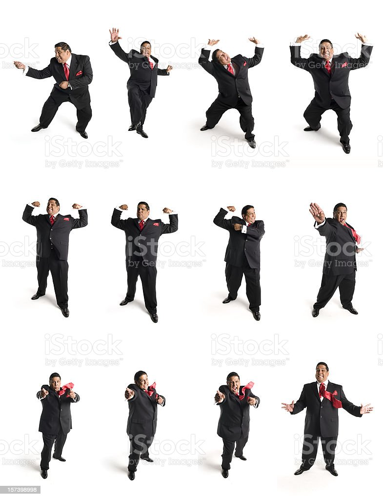 animated businessman Set D stock photo