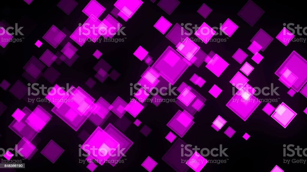 Animation background with squares. Digital 3d rendering stock photo