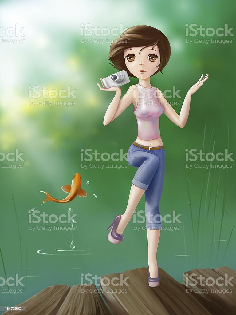 Anime girl stock photo