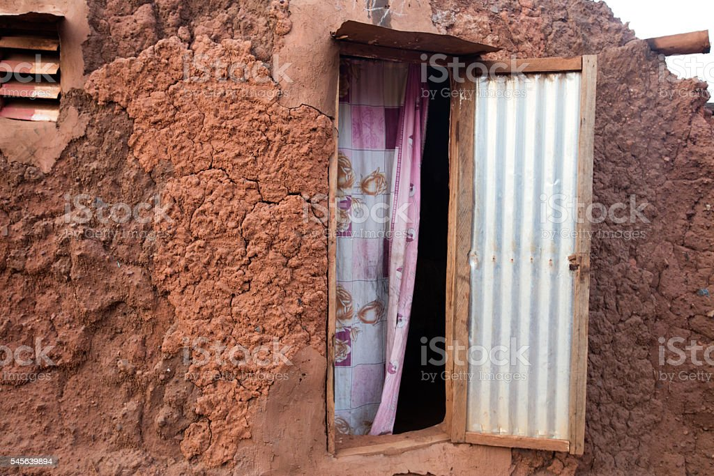 animist village in Burkina Faso stock photo