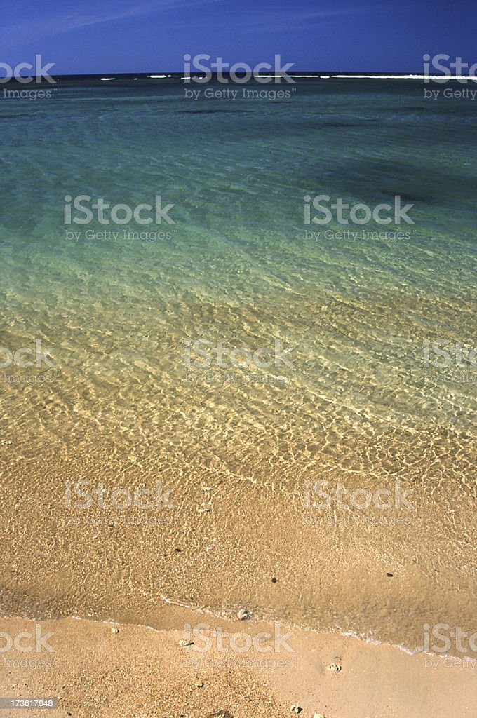 Anini Beach, Kauai, Hawaii royalty-free stock photo