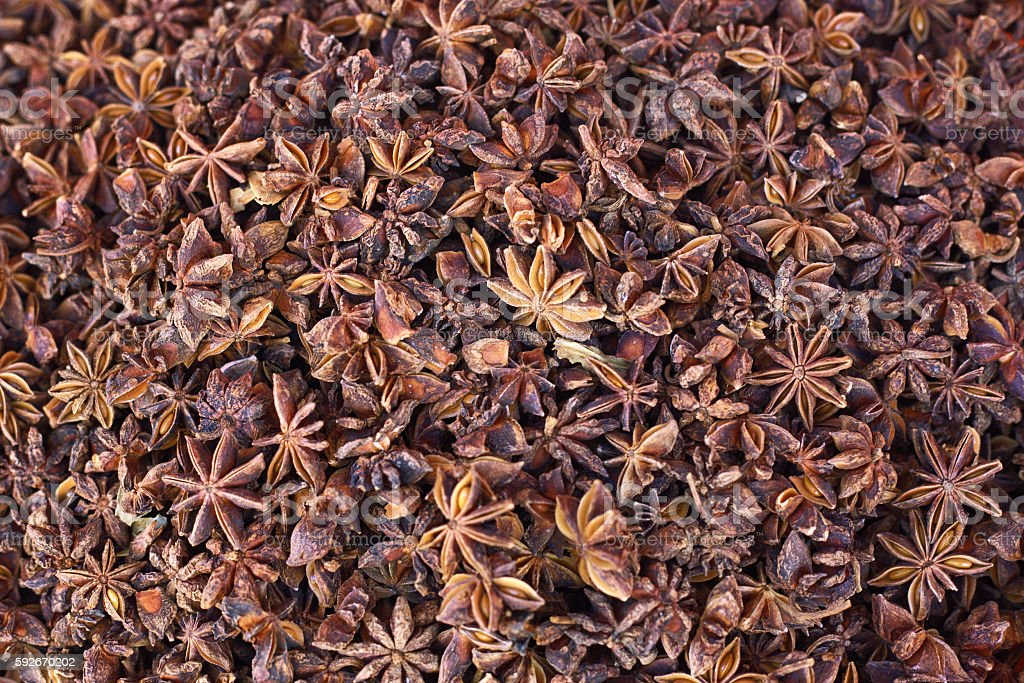 Anise background stock photo