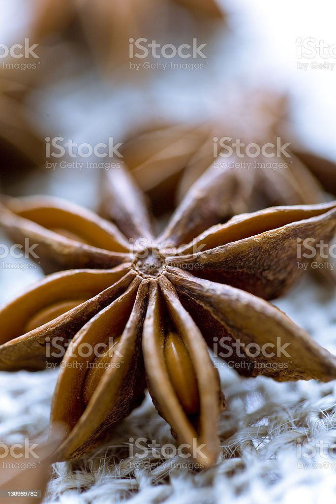 anise seeds stock photo
