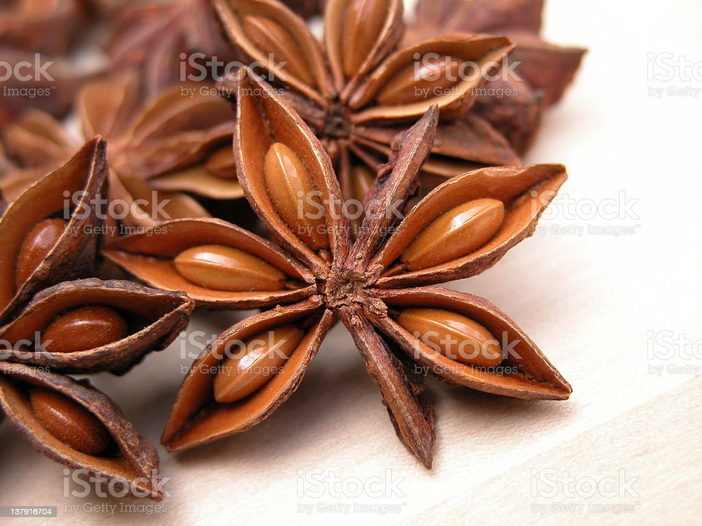 anise stars stock photo
