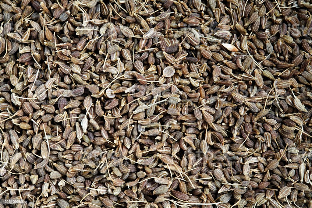 Aniseed as background stock photo