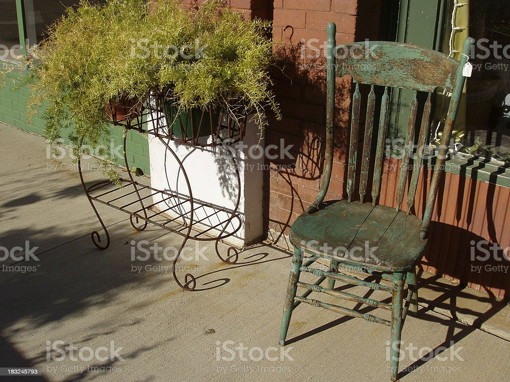 Anitique Chair - Sidewalk Sale royalty-free stock photo