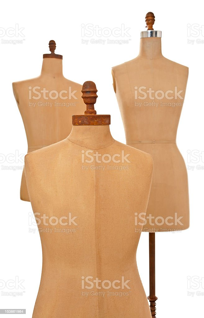 Anitque model dress forms royalty-free stock photo