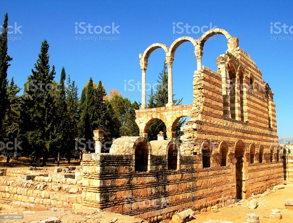 Anjar, Palace -City of Caliph Walid I, Lebanon stock photo