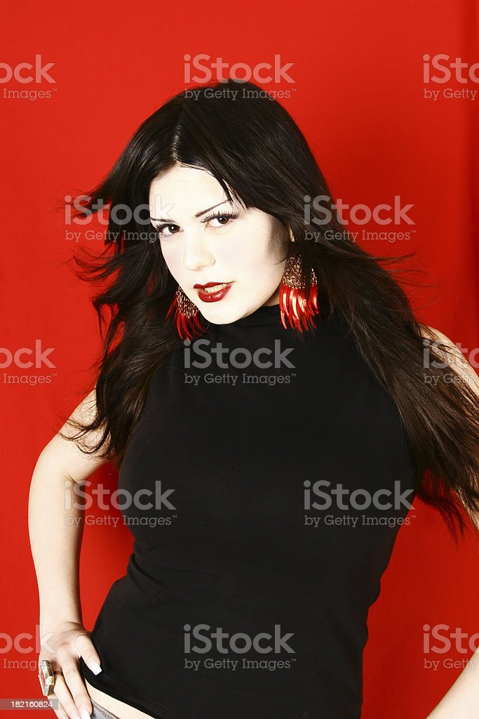 Anjelica on Red royalty-free stock photo