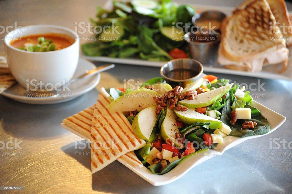 Anjou Asiago Salad Lunch Delight stock photo