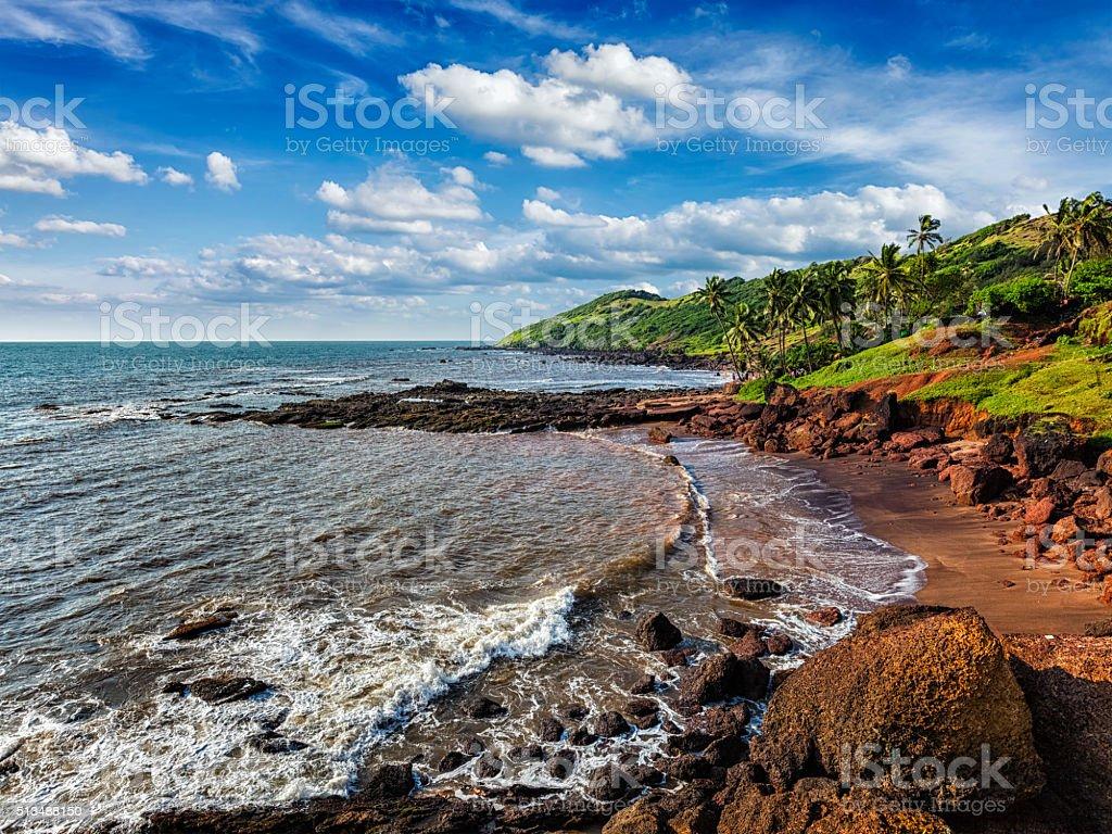 Anjuna Beach, Goa stock photo