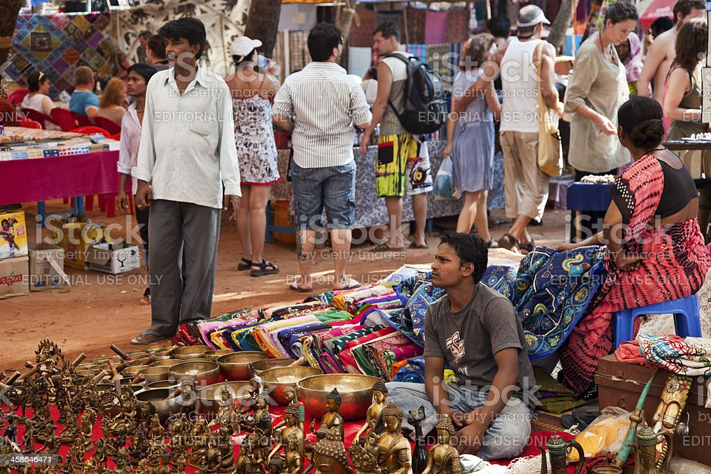Anjuna flea market stock photo