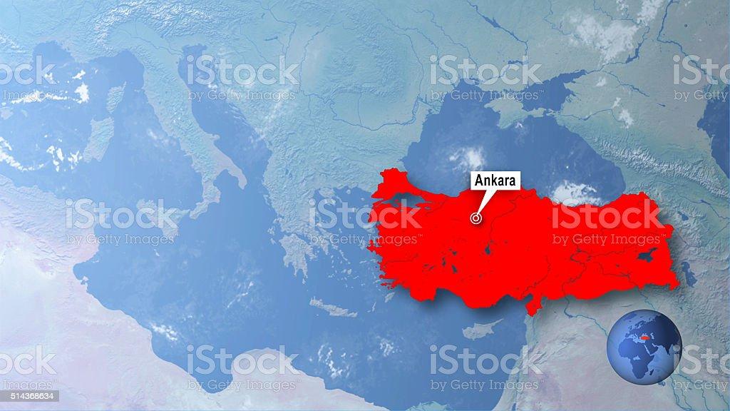 Ankara capital of turkey stock photo