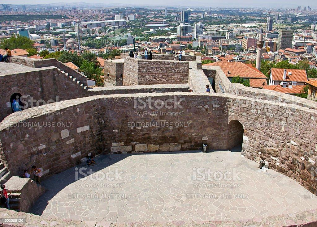 Ankara Castle stock photo