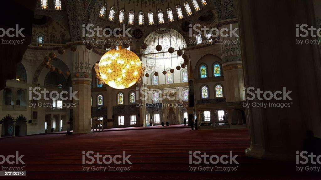 Ankara Kocatepe Mosque stock photo