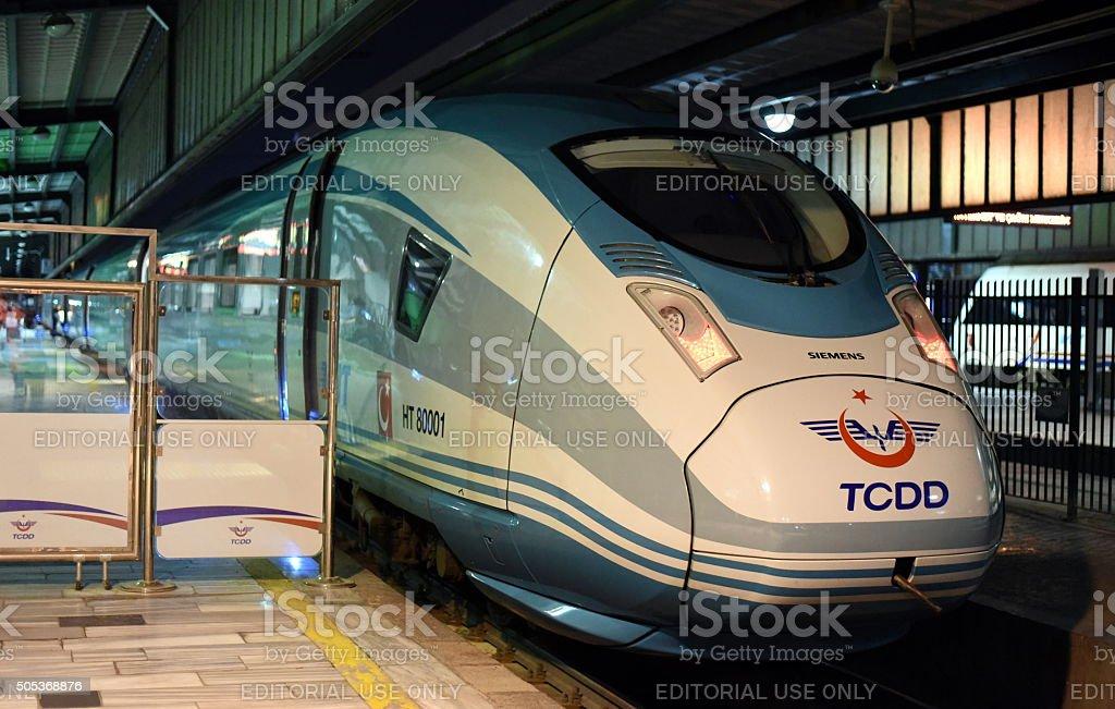 YHT TCDD - Ankara Konya High Speed Train stock photo