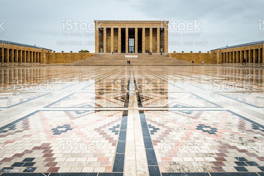 Ankara, Turkey - Mausoleum of Ataturk stock photo