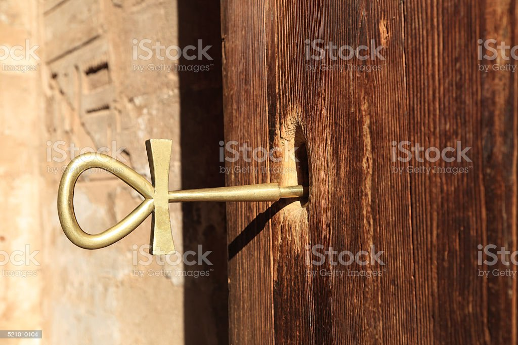 Ankh,character of life,ancient Egypt symbol stock photo